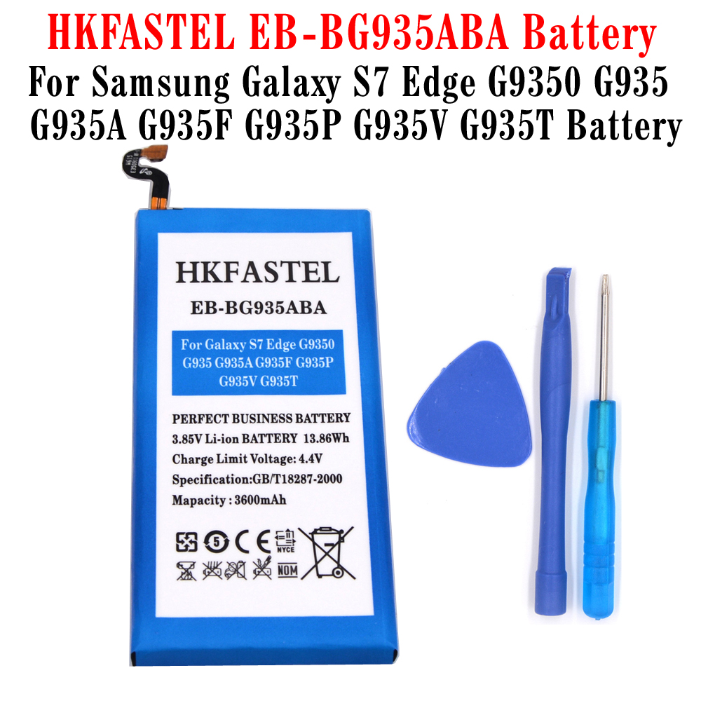 HKFASTEL Cell-Phone-Batteries S7-Edge G9350 Samsung Galaxy For G935/G935a/G935f/.. 3600mah