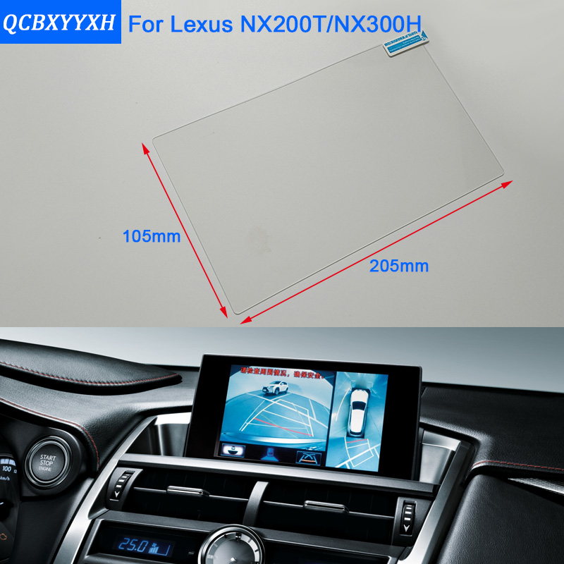 Car Styling 9 Inch GPS Navigation Screen Steel Glass Protective Film For Lexus NX 200T NX300H Control Of LCD Screen Car Sticker