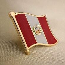 Мягкий эмалированный значок в виде флага