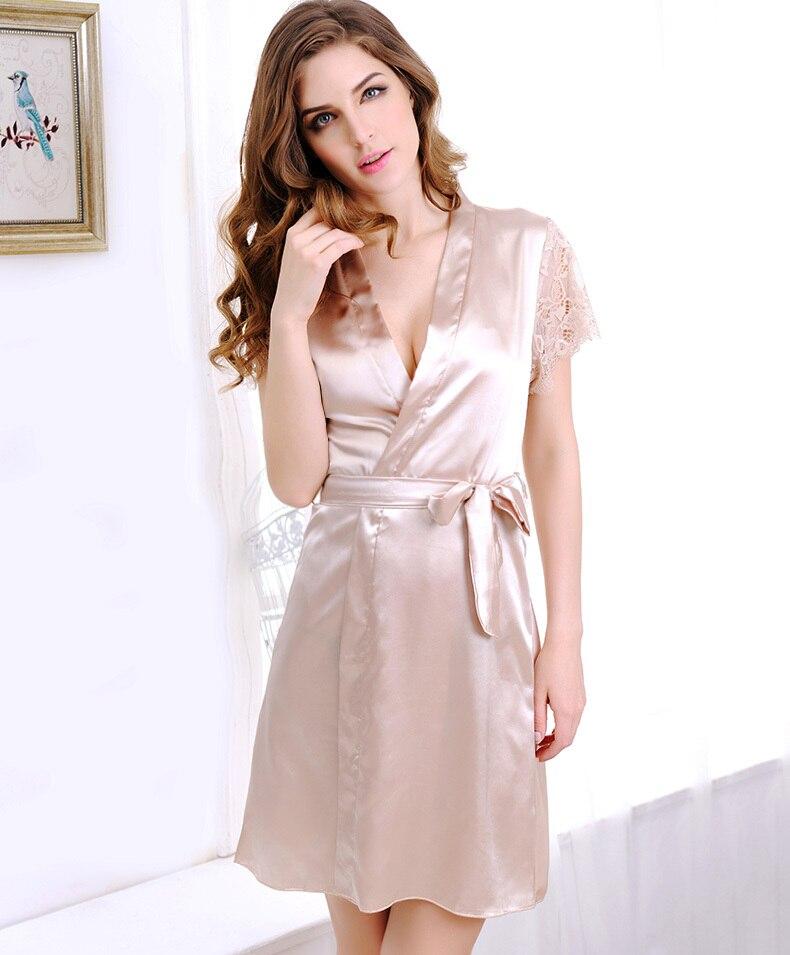 Superior Quality Beautiful Style Sexy Sleepwear Robe For Women Nightgown  Nightdress Sleepshirt Sleepwear-in Robes from Underwear   Sleepwears on ... d7630e2d96