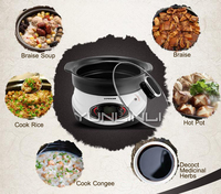 Ceramic Stew Pot 3L Multifunctional Electric Stew Pot Household Mini Cooker HT 30D
