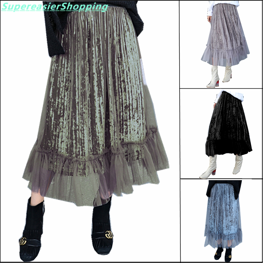 Compare Prices on Velvet Long Skirt- Online Shopping/Buy Low Price ...