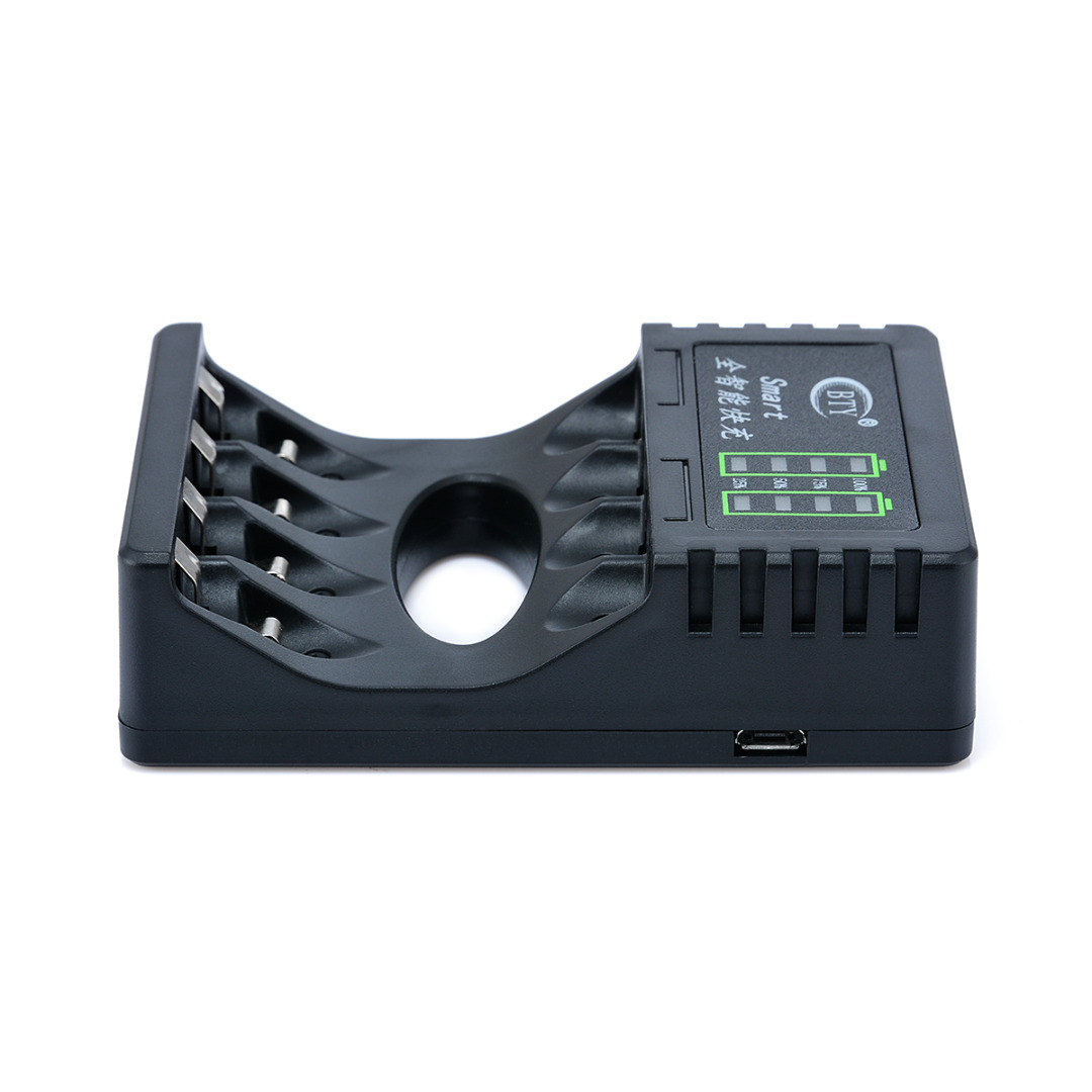 1pc 4 Slots LED Battery Charger Smart Rechargeable Battery Chargers 2 Colors For AA/AAA Ni-MH/Ni-Cd Rechargeable Battery
