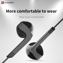 цена на Wired Earphone Hifi Music Earphone 3.5mm In-ear Headset Earbuds with HD Microphone Bass Earphones for Samsung iPhone Xiaomi E6U