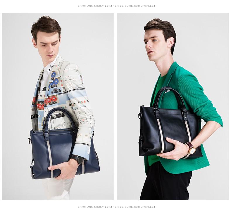 SAMMONS men genuine leather briefcase 3