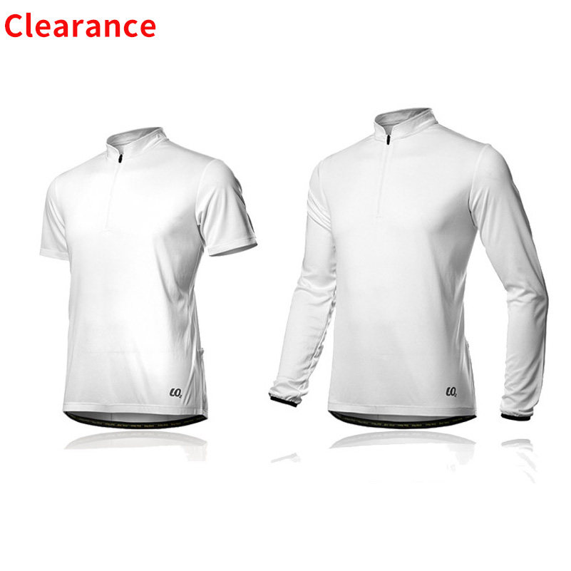 Spakct Clearance Cycling Jersey Breathable White Long Sleeve Jersey Road Bike MTB Short Sleeve Top Riding Shirt For Men