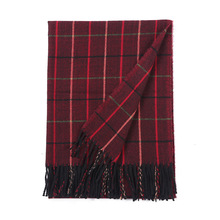 winter thickened cashmere scarf for women 2019 plaid soft scarves shawls and wraps bandana female foulard Tassel knitted hijab