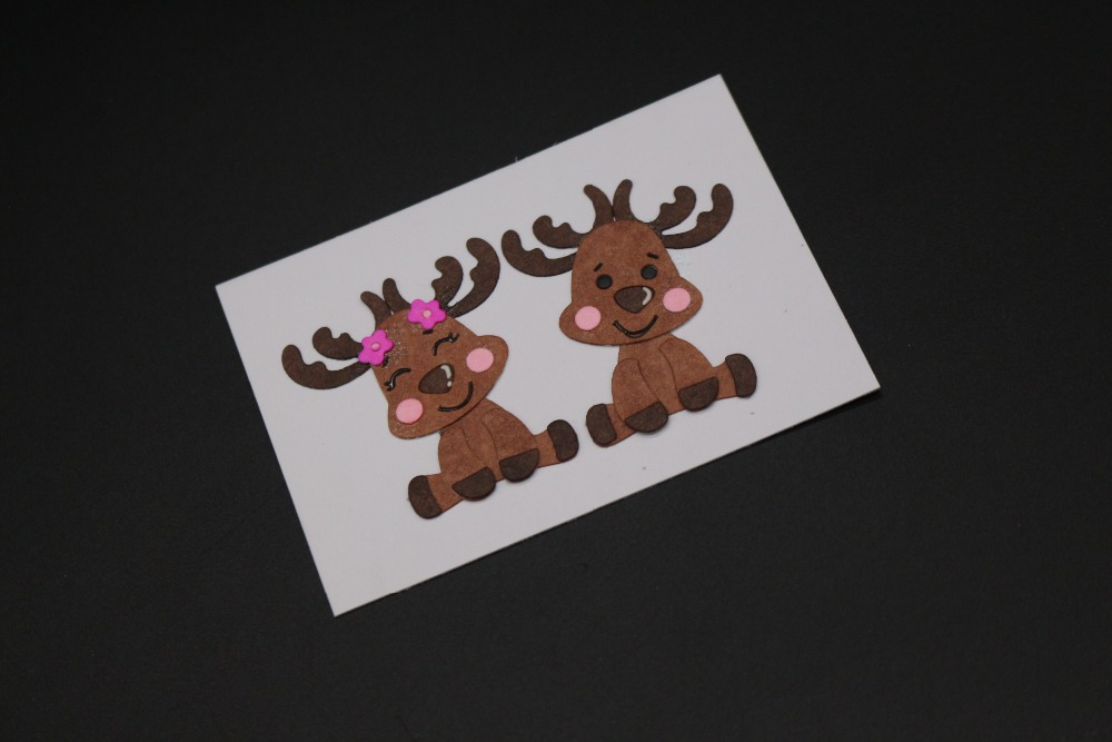 2pcs Lovely Christmas deers Metal Cutting Dies Stencil for DIY Scrapbooking Photo Album Paper Card Decorative Craft Die cuts New