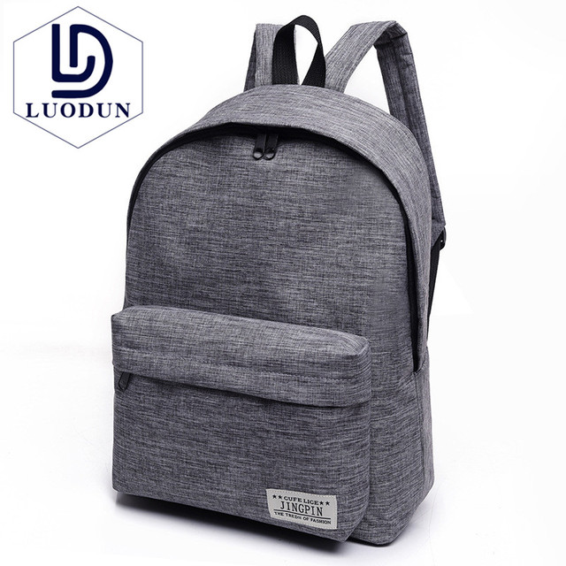 outlet store 78994 6b142 LUODUN Canvas shoulder bag female high school student bag Korean tide small  fresh college wind backpack male fashion travel bag