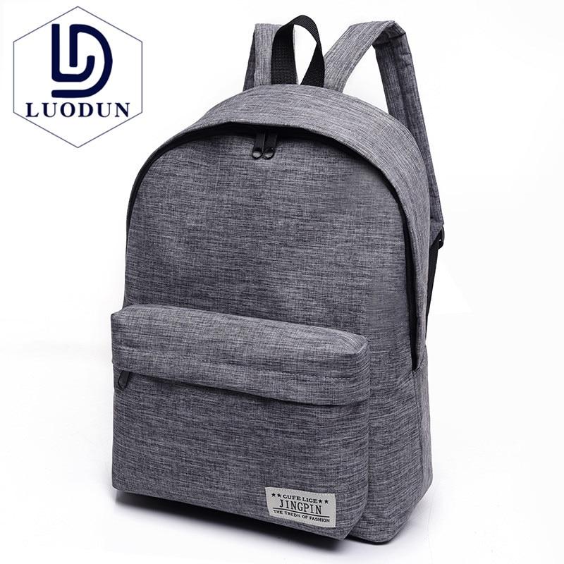 LUODUN borsa borsa di Tela a tracolla studente di liceo femminile Coreano marea piccolo fresh collegio vento zaino moda maschile borsa da viaggio