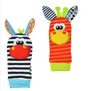 Image 5 - Детские носки, погремушки, игрушки, погремушки на запястье и носки для ног 0 24 месяцев, скидка 20%