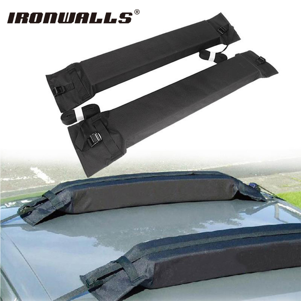 Ironwalls 2x car roof rack cross bar rooftop top luggage cargo carriers 60kg universal auto removable