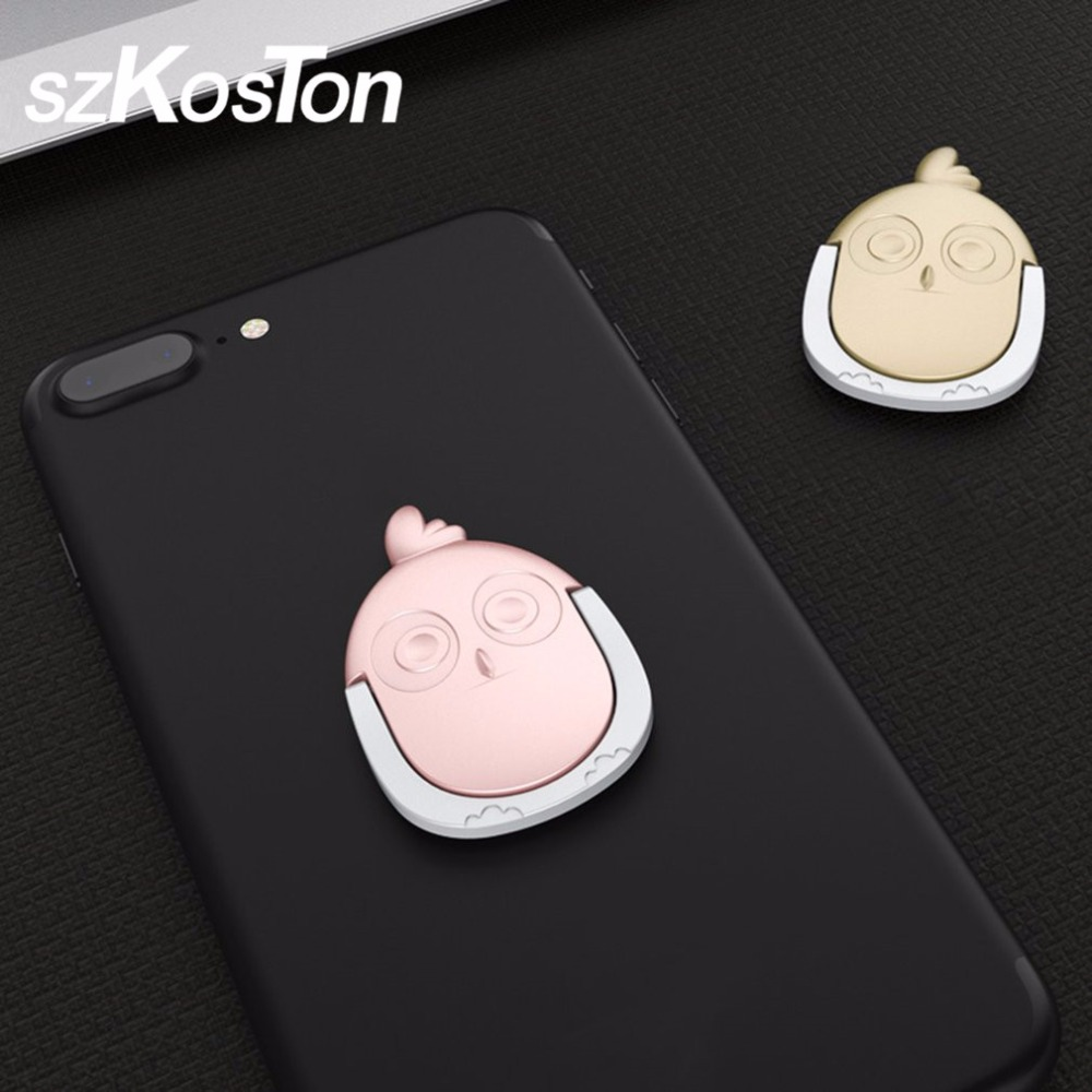 Cute Cartoon Chicken Finger Mobile Ring Holder Mobile Phone Bracket Holder Stand 360 Degree Rotate Stand Holder For iPhone Sony