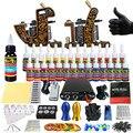 Solong Tattoo Completar Arranque Kit de Tatuaje para Principiantes 2 Pro Machine Guns 28 Tintas de Alimentación Aguja Grips Consejos TK204-30