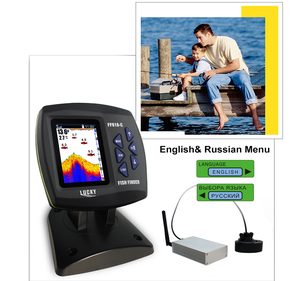 Image 5 - Lucky Remote Control Fish Finder Echo sounder FF918 CWLS Color Wireless Sensor for Fishing 300m/980ft Operating Fishfinder #C5