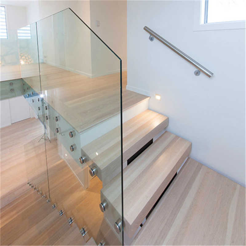 Modern Custom Glass Railing Build Floating Staircase With Wood   Glass Balustrade Staircase Cost   Steel Plate   Floating Staircase   Zig Zag   Curved Glass   Stair Railing
