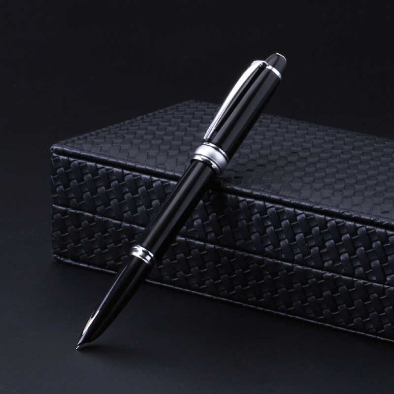 High-end Hero Fountain Pen 14k Gold Hooded Nib 0.5mm Ink Pens Luxury Metal Business Gift Stationery Office Supplies Stationery dikawen 891 gray gold dragon clip 0 7mm nib office stationery metal roller ball pen pencil box cufflinks for mens luxury
