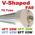 8ft led light tube wholesale CREE 65W Led Tube T8 8ft FA8 Single Pin G13 R17D Integrated Double Sides smd2835 AC85-265V DLC UL
