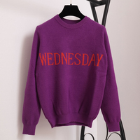 SRUILEE Fashion Week Women Sweater Chic Knitting Jumper Monday Tuesday Wednesday Thursday Friday Saturday Sunday Runway