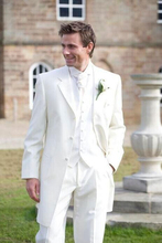 2016 New Custom Made Handmade White 3 Piece Mens Wedding Suits Groom Tuxedos Dress Suits Formal Party Suits