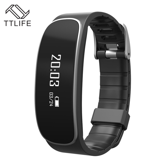 Ttlife sleep monitor de frecuencia cardíaca pulsera smart watch rastreador de fitness pulsera inteligente para iphone xiaomi mejor que xiaomi band 2