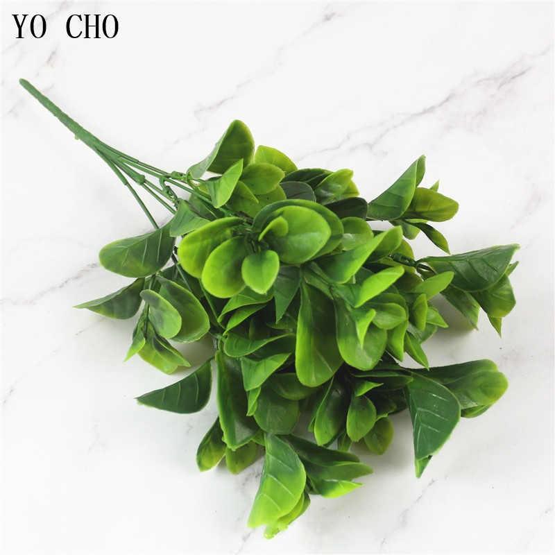 יו צ מזויף צמחים שרך דשא חתונה קיר חיצוני דקור ירוק עלה פרחים מלאכותיים פלסטיק פלנט עבור בית גן קישוט