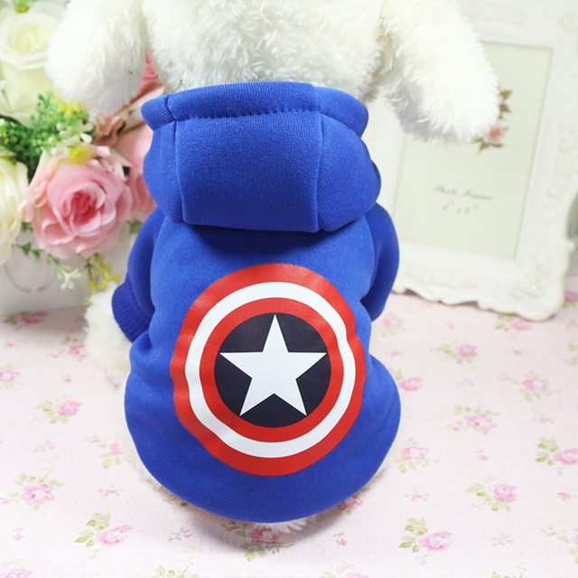 Cartoon Dog Hoodie Pet Dog Clothes For Dogs Coat Jacket Cotton Ropa Perro  French Bulldog Clothing For Dogs Pets Clothing Pug 2