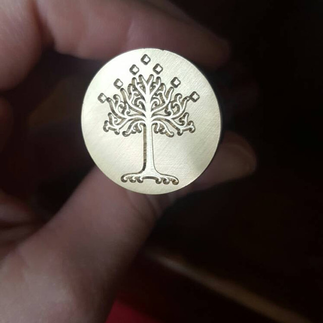 Lord of the Rings The White Tree of Gondor Wax Seal Stamp Kit Sealing wax stamp jonsbo lord of the rings mod screw set red