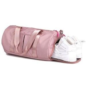 Image 2 - Bolsas De gimnasio secas para gimnasio para mujeres 2019 hombres esterilla De Yoga Tas viaje entrenamiento saco De deporte Gymtas Sac nuevas zapatillas deportivas bolso deportivo pinkXA85A