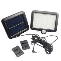 56 LED Solar Power Motion Body Sensor Wall Light Waterproof Outdoor Garden Security Street Lamp