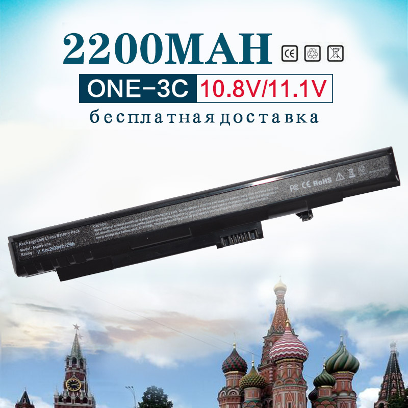 все цены на 11.1v 2200MAh 3 Cells um08a31 laptop battery for Acer Aspire One A110 A150 ZG5 UM08A31 UM08A72 UM08A71 UM08A73 UM08B74 black онлайн
