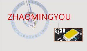 Image 4 - 6W 12W 15W 18W 24W 36W 80W 100W LED PANEL Circle Ring Light 220V SMD 5730 LED Round Ceiling  lamp for Dining room