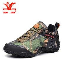 Xiang Guan New Hiking shoes tourism camo oxford waterproof low boots men and women walking Anti-skid Wear resistant shoes