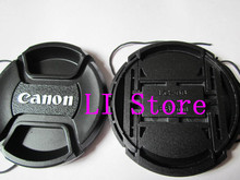 1pcs/lot C Camera Front Lens Cap Cover 58mm 58 mm Center Pinch Snap With Anti-lost Rope for Canon Nikon pentax 58mm Lens