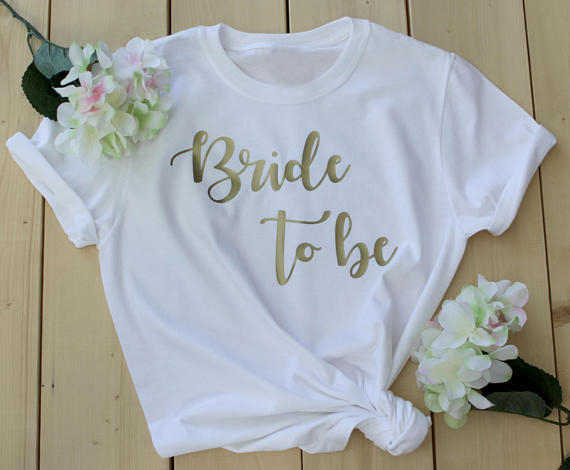 Women T-shirt Romantic Gift for Her Fashion Cotton Beautiful Tees Bridesmaid Shirts Bachelorette Party Bride To Be Bride Squad