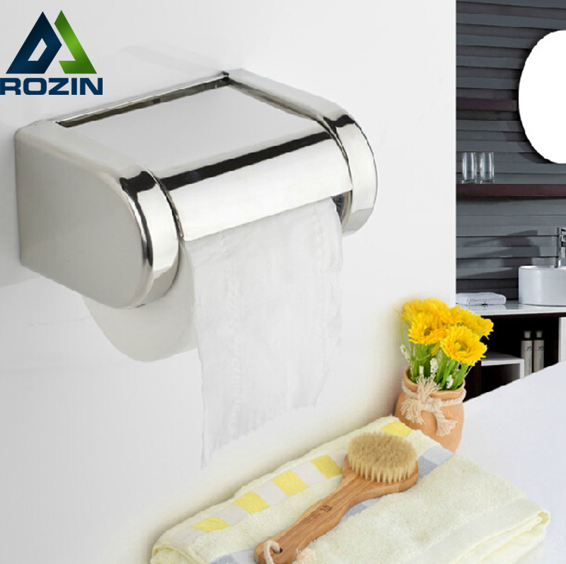 Free Shipping Toilet Roll Paper Holder Wall Mounted Convenient Tissue Cover Storage Box Home Room Decor