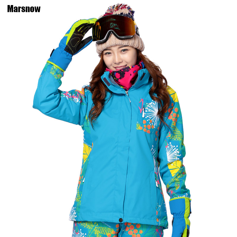 Marsnow Snowboarding snow Jacket female 3 in 1 double layer Warm Waterproof Windproof hiking Skiing Clothes ski jacket women men and women winter ski snowboarding climbing hiking trekking windproof waterproof warm hooded jacket coat outwear s m l xl