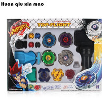 Фотография 4 Gyro Box For Sale Fusion Beyblade Plastic Spinning Beyblade Sets 4D Fight Beyblade String Launcher Grip Kids Toys Gifts