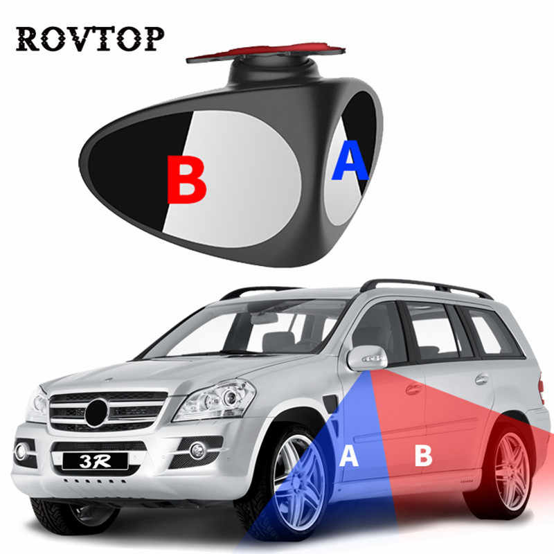 Auto Car Wide Angle Mirror 360 Degree Adjustable Blind Spot Mirror Rear View Mirror Parking Rear View Convex Mirror #3