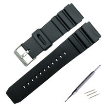 609da3b0fbe 16mm 18mm 20mm 22mm Preto Pulseira de Borracha Do Esporte Militar Relógio  de Mergulho de Pulso Silicone Strap Band Para Casio g-.