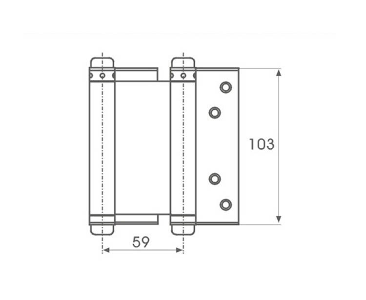 Lot Of 2 Door Hardware Stainless Steel Double Action Spring Door Hinges 4u0027u0027  New In Cabinet Hinges From Home Improvement On Aliexpress.com | Alibaba  Group