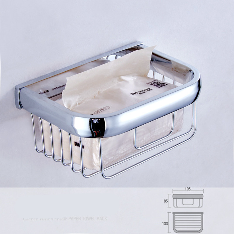 aothpher chrome square holder bathroom accessories toilet paper basket wall mounted box tissue holder bathroom