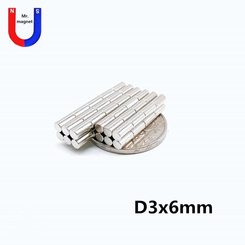 500pcs 3x6 Strong Neodymium Magnet 300g Pulling N42 NdFeB Powerful Small Round Magnetic Fridge Magnets 3mm x 6mm
