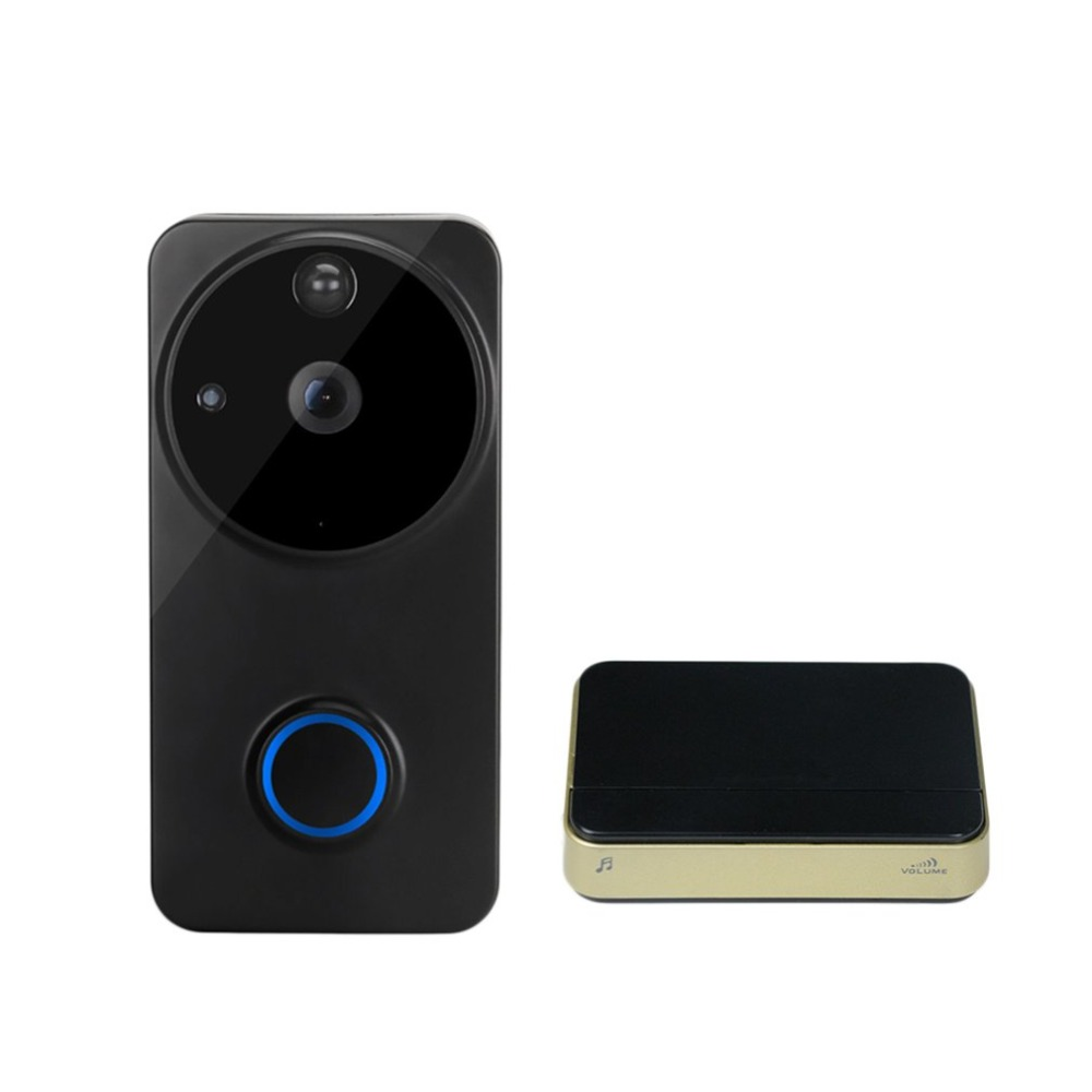 WF04 Smart Video Doorbell Wi-Fi Infrared Night Vision Wireless Voice Connection Doorbell Home Electronic Cat EyeWF04 Smart Video Doorbell Wi-Fi Infrared Night Vision Wireless Voice Connection Doorbell Home Electronic Cat Eye