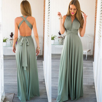 Sexy Women Multiway Wrap Convertible Boho Maxi Club Red Dress Bandage Long Dress Party Bridesmaids Infinity Robe Longue Femme 1