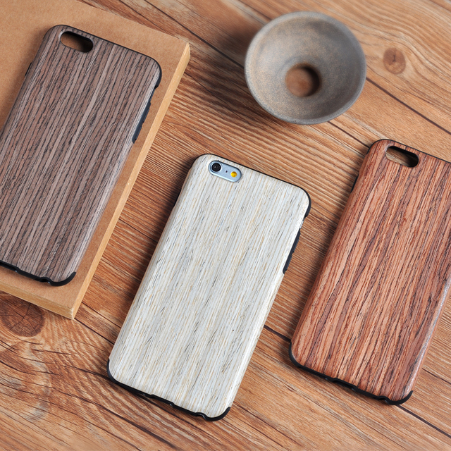 Wood Cover Luxury Mobile Phone Case for iphone 5 5s 6 6s 7 plus