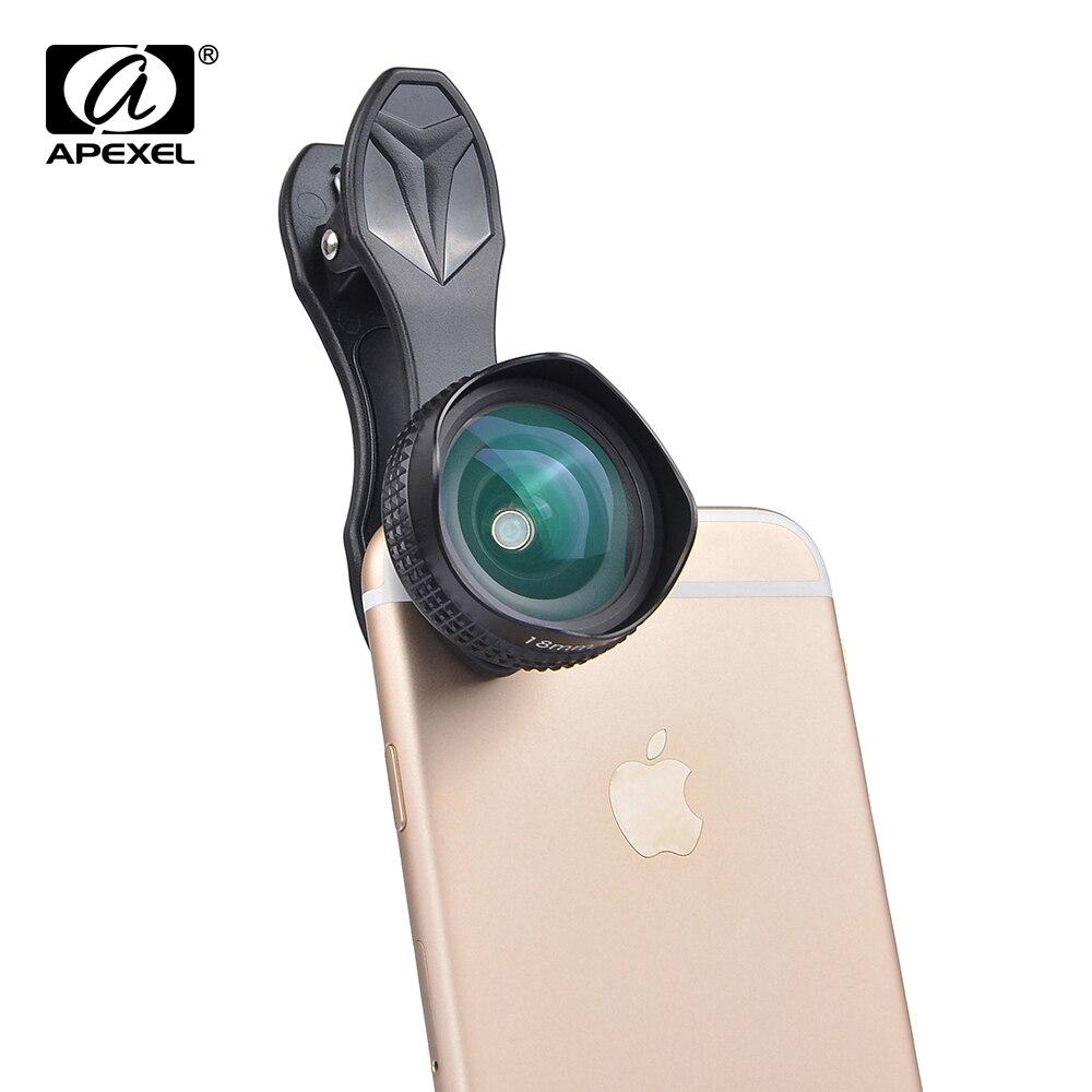 imágenes para Apexel 0.63X Profesional HD Lente Super gran angular de 18mm lente de Retrato sin distorsión más paisaje lente para el iphone 6 6 s 7 Xiaomi