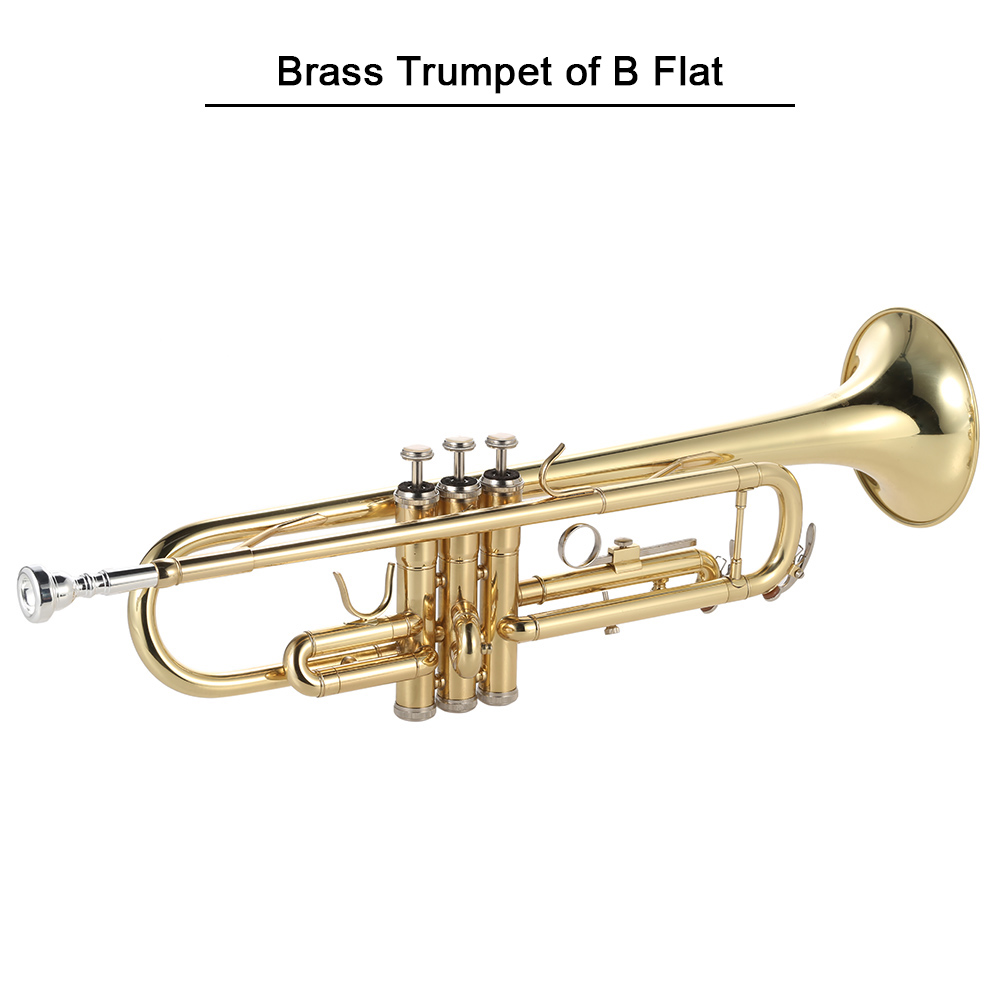 ammoon Trumpet Bb B Flat High quality Brass Gold painted Trumpet with ammoon AMT 01GB 3in1