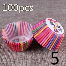 100 шт./лот инструменты для приготовления пищи бумажный стаканчик для торта вкладыши для выпечки чашки для кексов кухонные капкейки формы для торта
