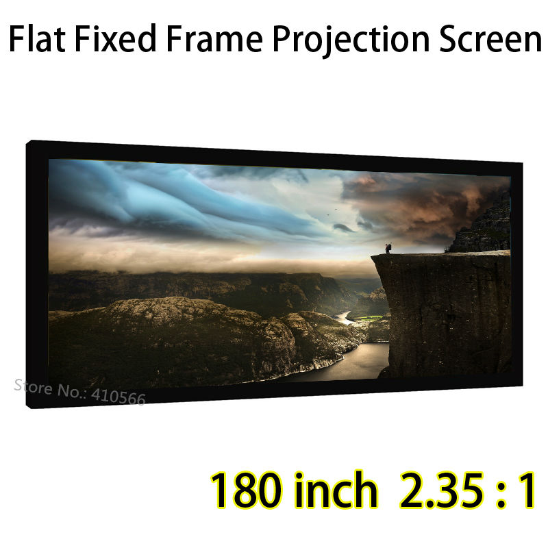 Customized Large Screen 180inch 2.35:1 Flat Fixed Frame Projection Screens For Ultra HD 1080P Projector hd projector projection screen 300inch 16 9 format outdoor fast folding frame screens for camping music party